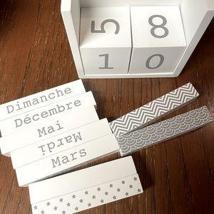 Cute White Block Calendar